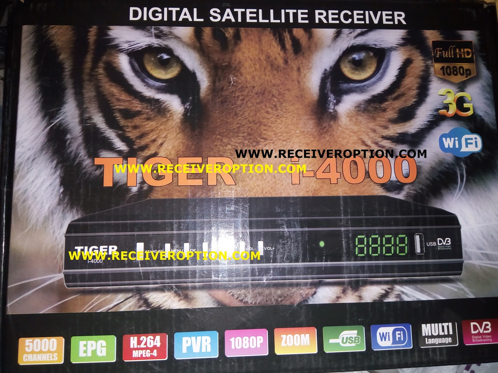 TIGER i-4000 HD RECEIVER AUTO ROLL POWERVU KEY NEW SOFTWARE - HOW TO