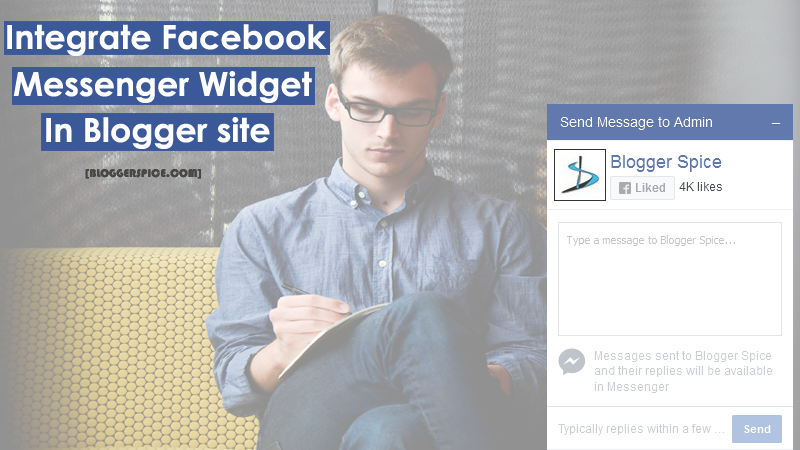 Facebook Messenger Widget For Sending Instant Messages to Blog Admin