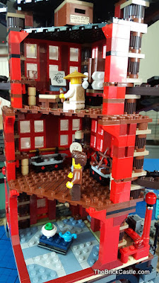 LEGO Ninjago Temple Of Airjitzu set 70751 inside study training room tea