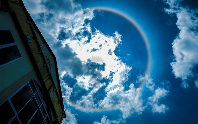 Halo Matahari (Sun Halo) di Sarawak ~ Wordless Wednesday