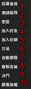 laplace character menu