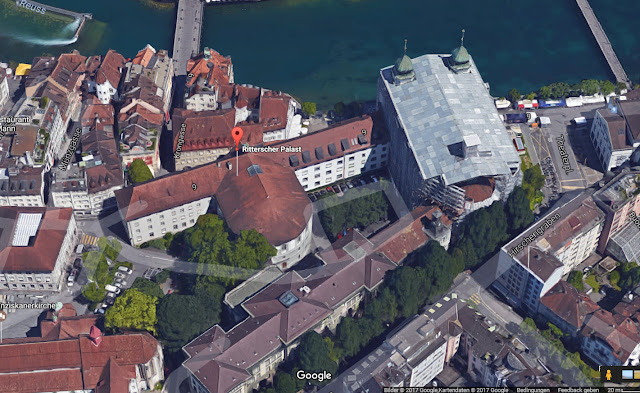 Ritterscher Palace with attached parliament building and covered courtyard - © google maps