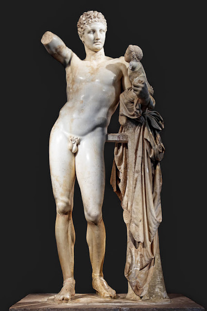 Hermes of Praxiteles Archaeological Museum of Olympia, Greece