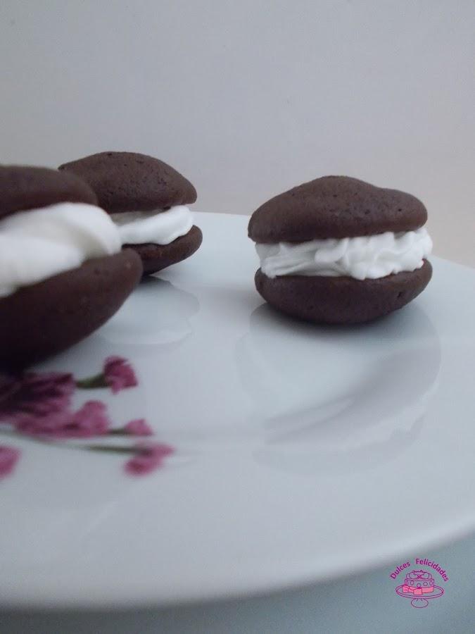 Whoopie pies de chocolate