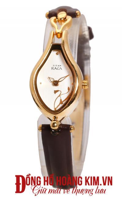 Đồng hồ nữ dây da giá rẻ mặt tròn