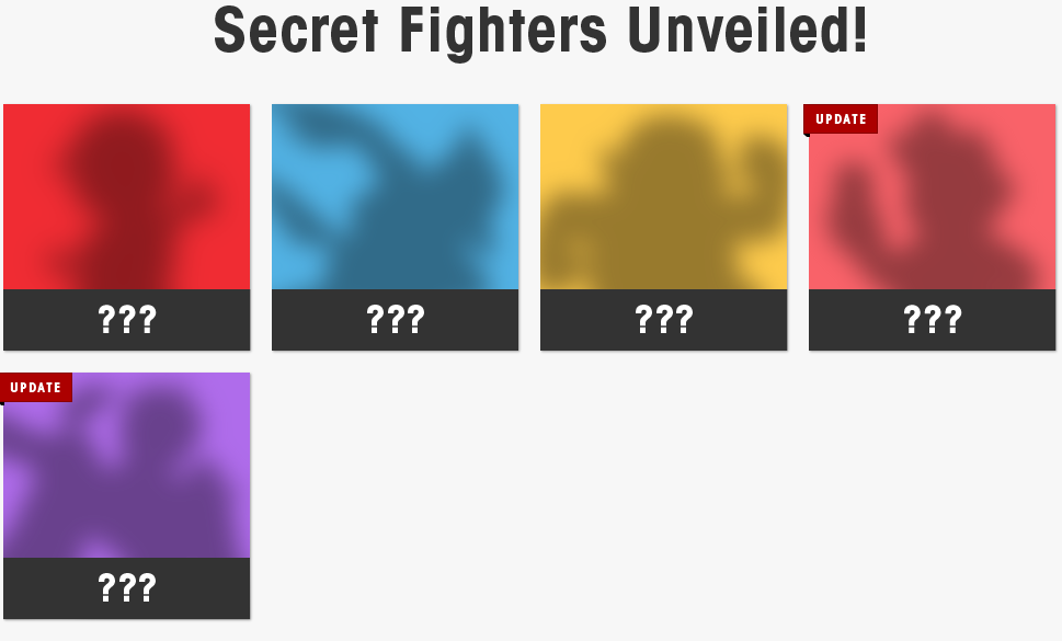 Unlockable character sihoulettes for Super Smash Bros. 4.