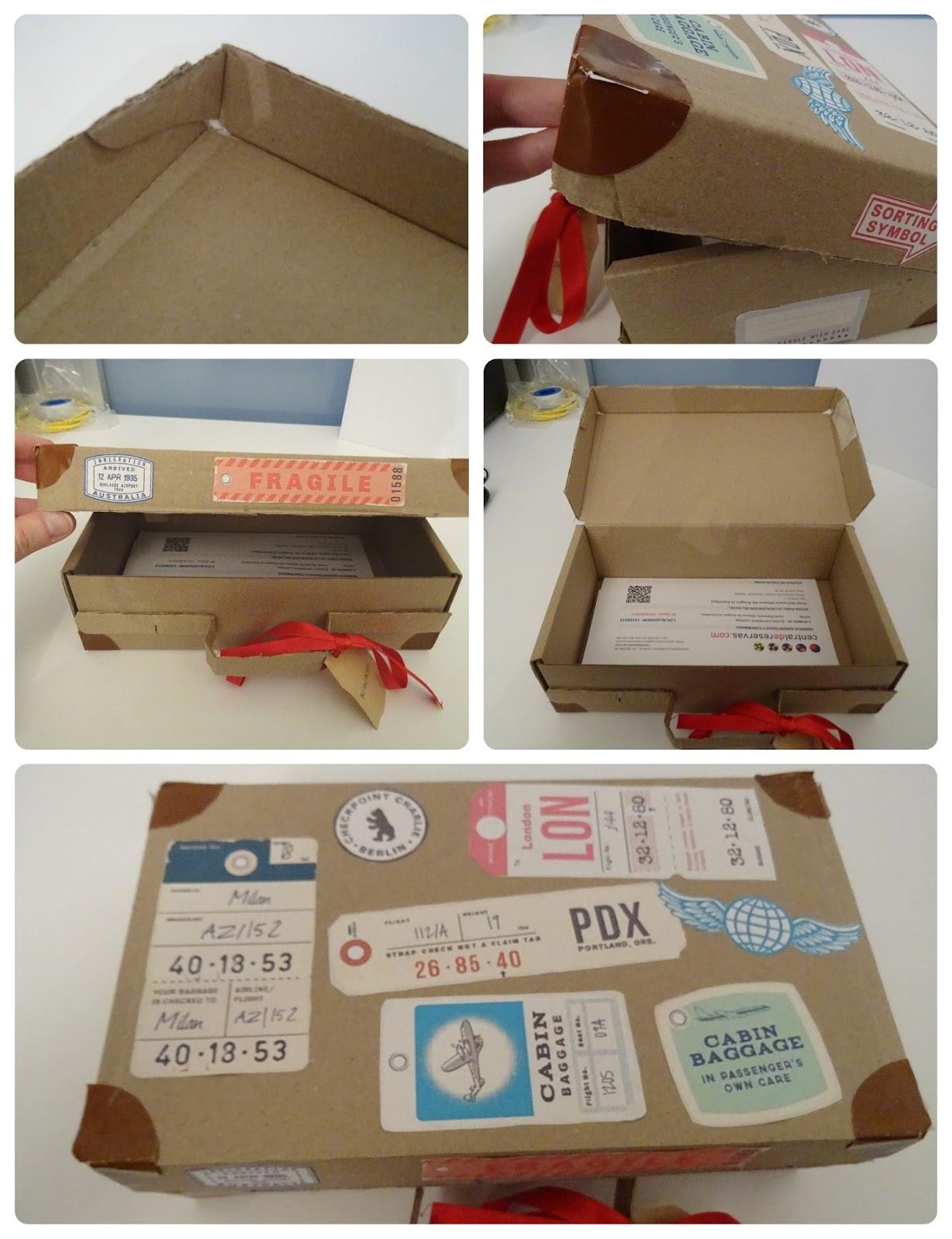 Hacer caja carton vintage