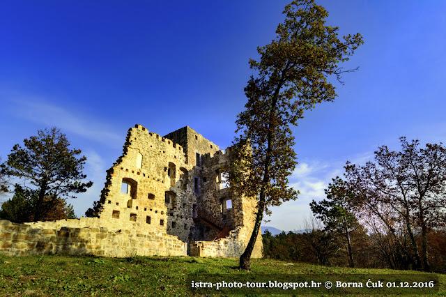 Srednjovjekovna utvrda Possert/Posrt @ Izlet po Istri 01.12.2016