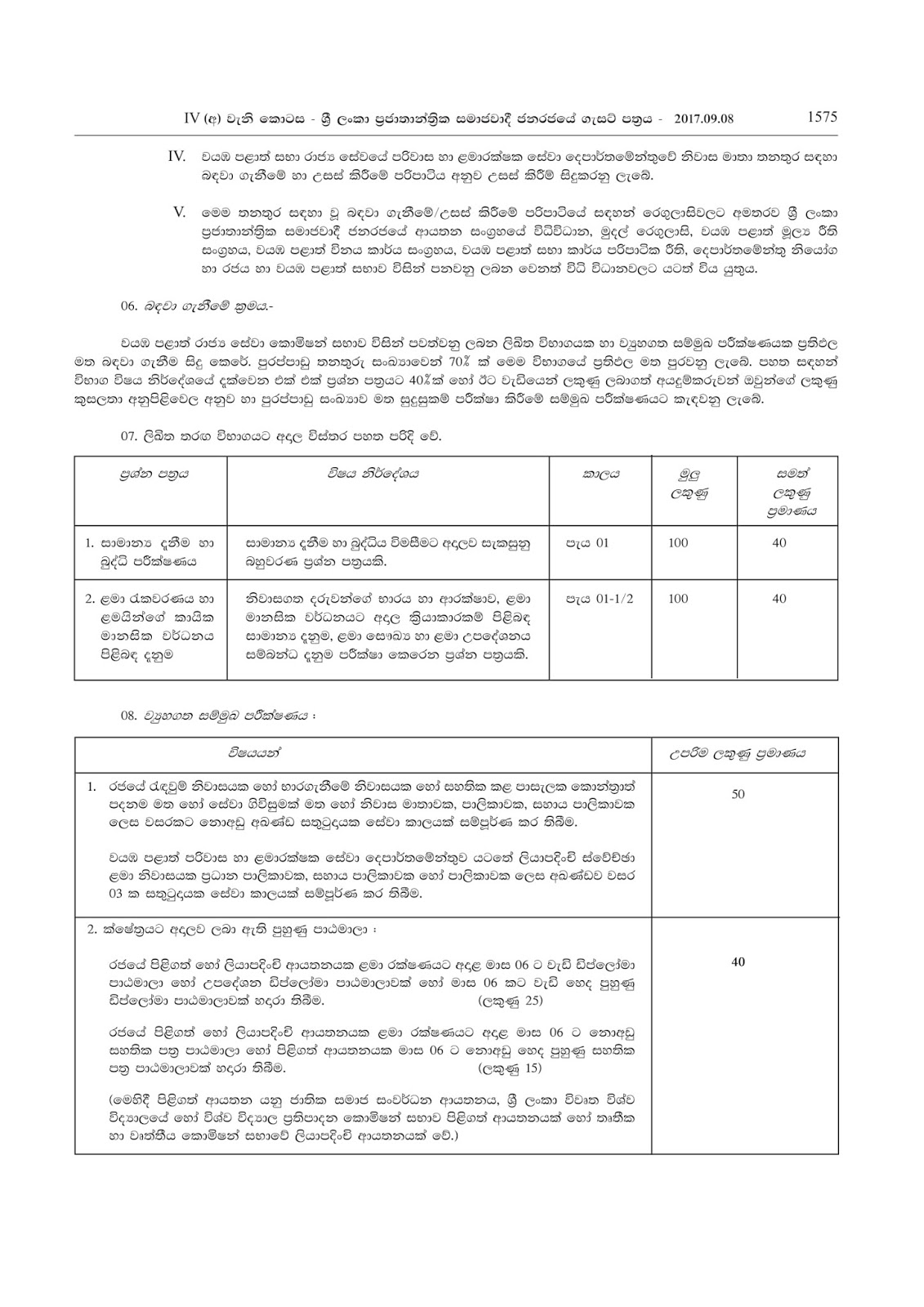 Management Assistant Grade III ( Open ) - North Western Province