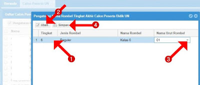 Pengaturan Nomor Kursi Berdasarkan Rombel Peserta UN-USBN