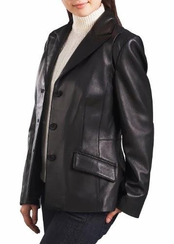 Sport Blazers Womens New Lambskin Black Faux Leather