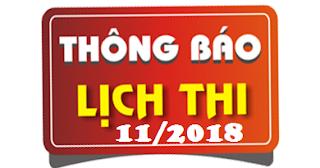 Lịch thi sát hạch lái xe ô tô tháng 11/2018