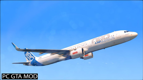 Free Download Airbus A321neo Mod for GTA San Andreas.