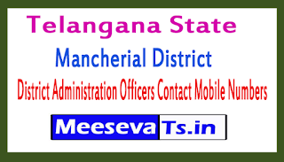 Mancherial District Administration Officers Contact Mobile Numbers In Telangana State