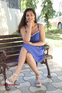 Actress Prasanna Stills in Blue Short Dress at Inkenti Nuvve Cheppu Movie Platinum Disc Function  0179.JPG