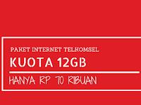 Paket Internet Telkomsel 12GB/60 Hari Hanya 70 ribu, Mau?