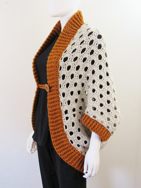 Cocoon Shrug Crochet Pattern