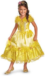 Girls Disney Belle Deluxe Sparkle Toddler/Child Costume