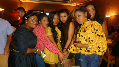 Pictures of hot celebs at Halima Abubakar's birthday party
