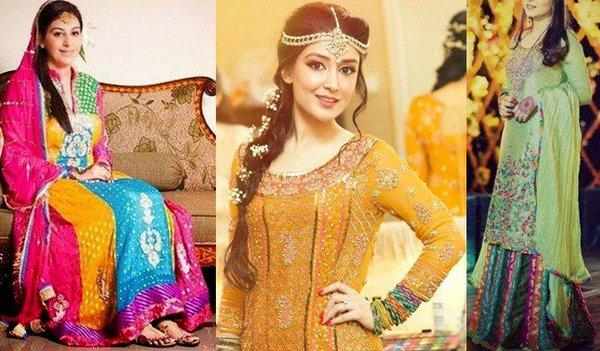 Glorious Mehndi Dresses For Bridles