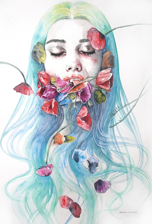 02-Eternity-Erica-Dal-Maso-Expressing-Emotions-Through-Watercolor-Paintings-www-designstack-co