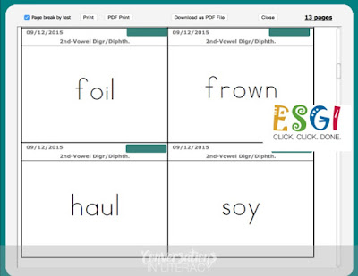 Using ESGI software to learn sight words