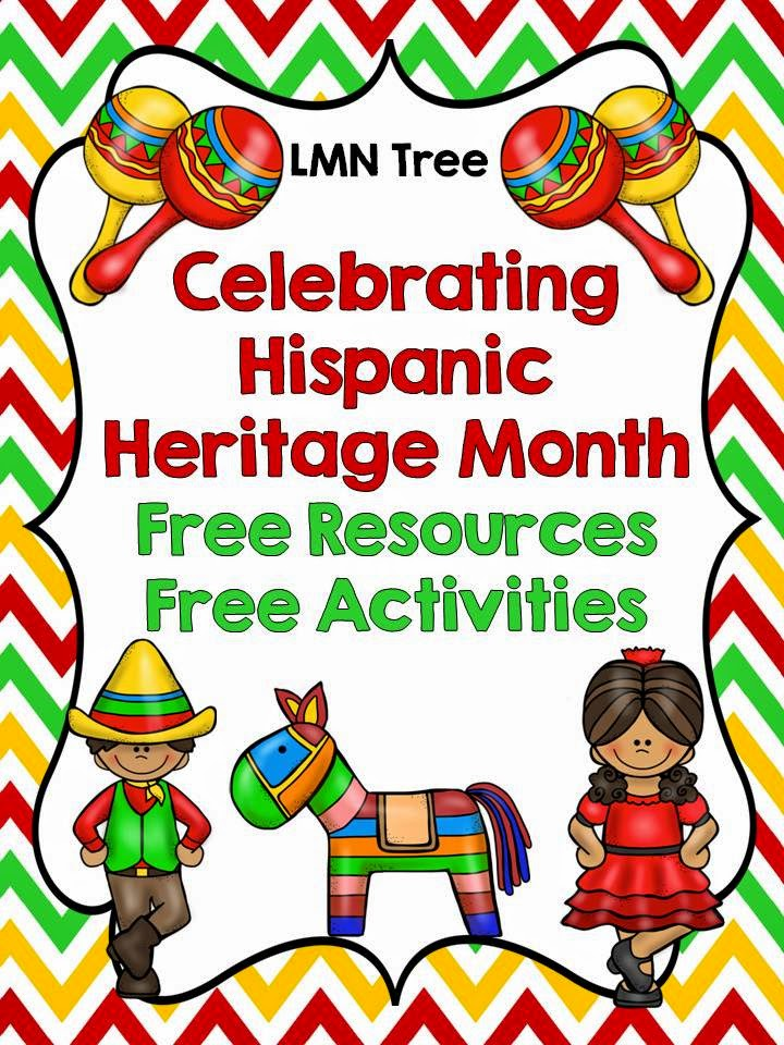 Lmn tree great free resources to help celebrate hispanic for National hispanic heritage month coloring pages