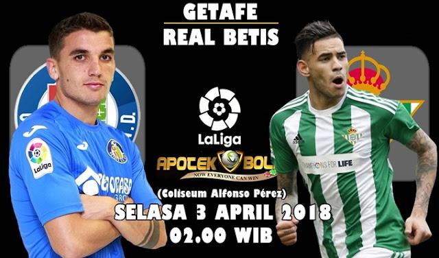 Prediksi Getafe vs Real Betis 3 April 2018