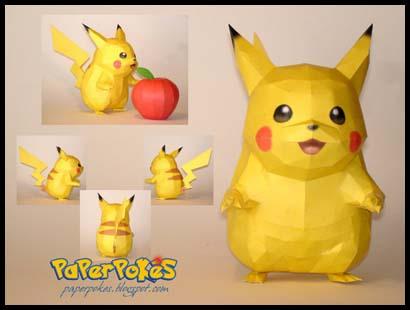 Pokemon Papercraft Pikachu
