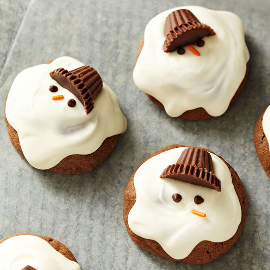 Chocolate Melting Snowman Cookies Recipe