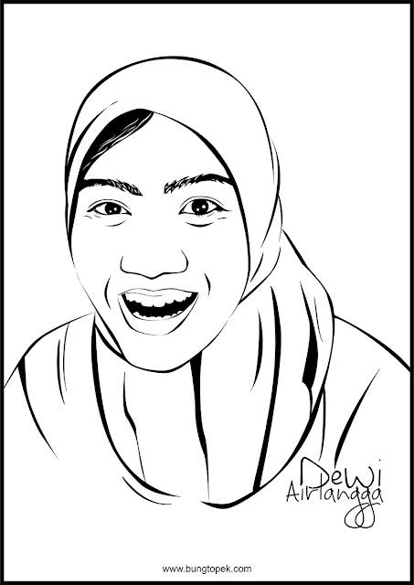 Line Art Dewi Airlangga