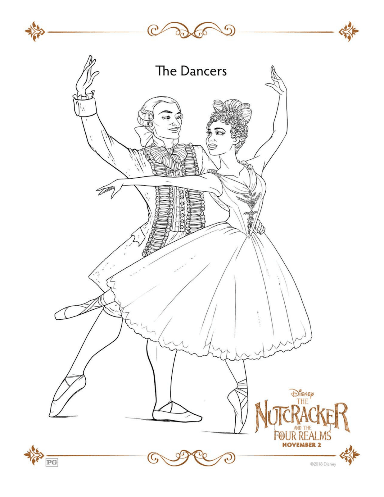 Disney S Nutcracker And The Four Realms Free Coloring