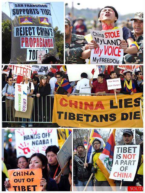 Người Tây Tạng biểu tình phản đối Trung Quốc