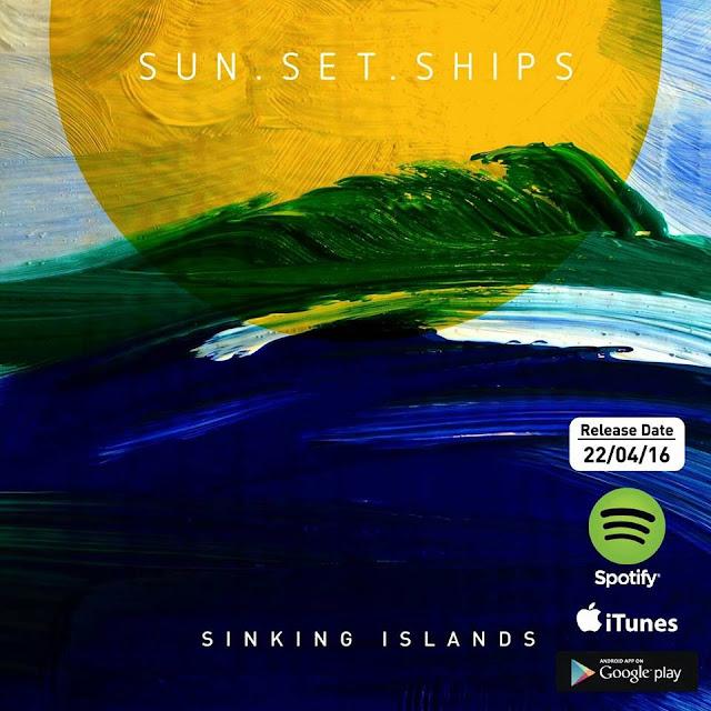 Sun Set Ships Sinking Islands