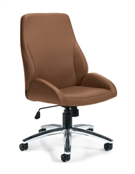 Light Brown Leather Office Chair