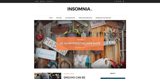 insomnia bloger template 2018