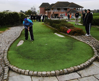 Photo of Nuno Cunha at the Cambridgeshire and Essex Open Minigolf Championship