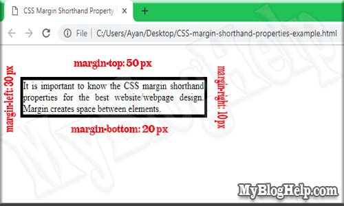 CSS-margin-shorthand-property-example