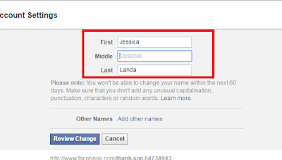 Facebook Name - Change Your Name On Facebook