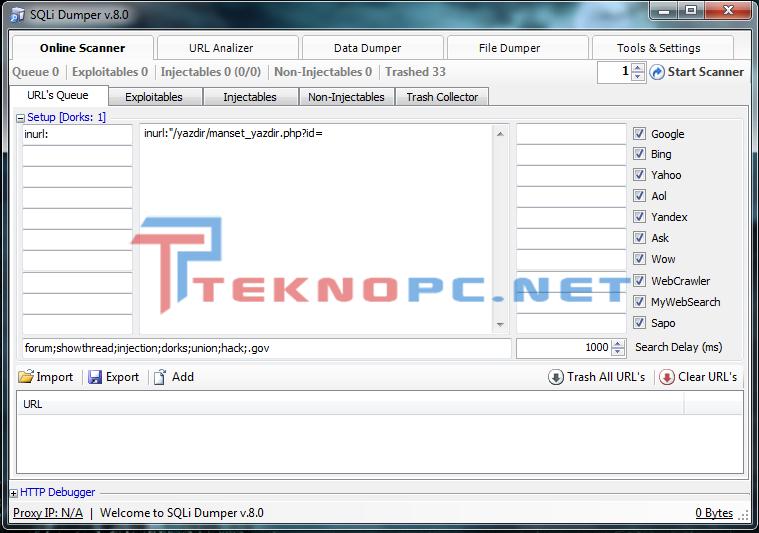 SQLi Dumper V 8 0 Full İndir | TeknoPC - Güncel ve Ücretsiz