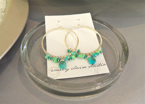 Emily Claire Studio, Emily Claire Jewelry, turquoise jewelry, turquoise earrings