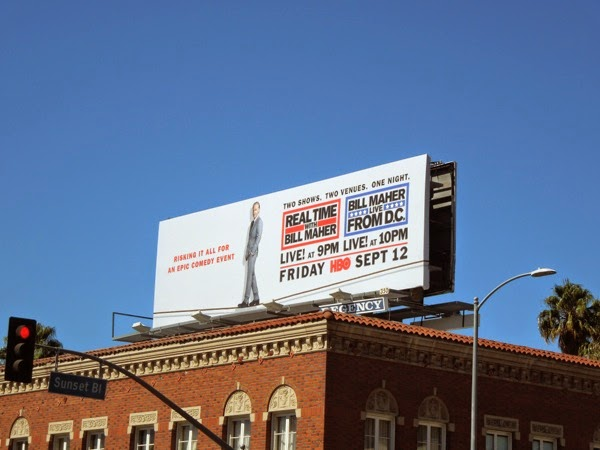 Bill Maher Live from DC tightrope billboard