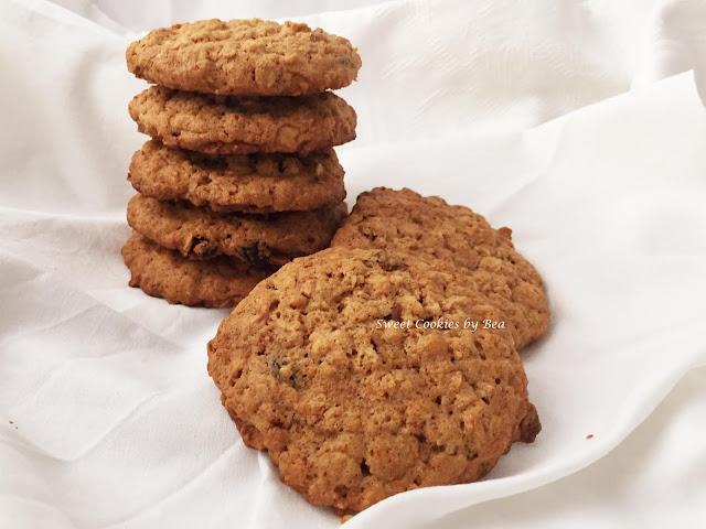 Cookies integrales con avena y pasas