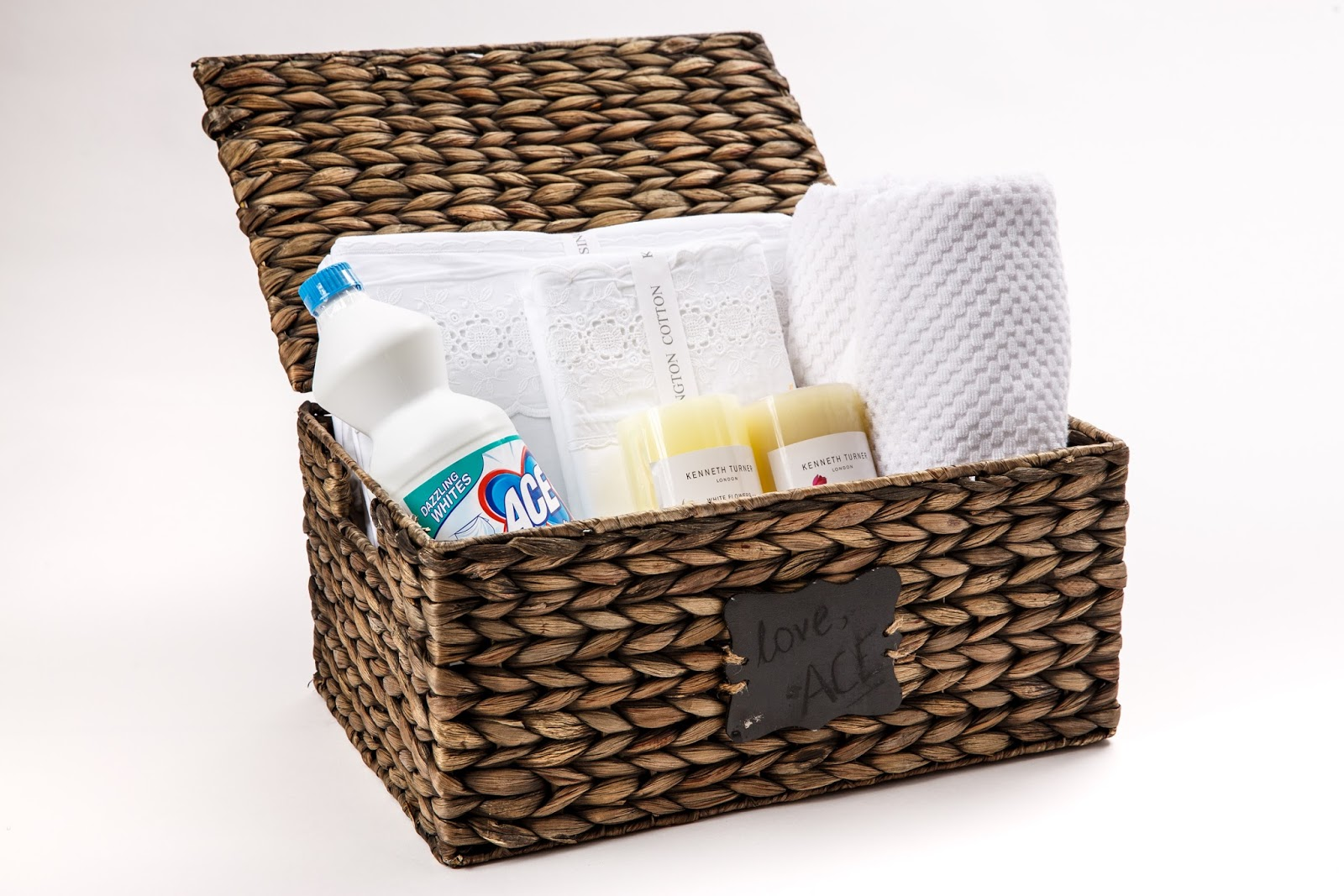 Pamper hamper prize from Ace