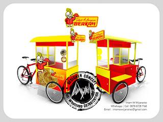 produksi gerobak sepeda roti maryam berkah