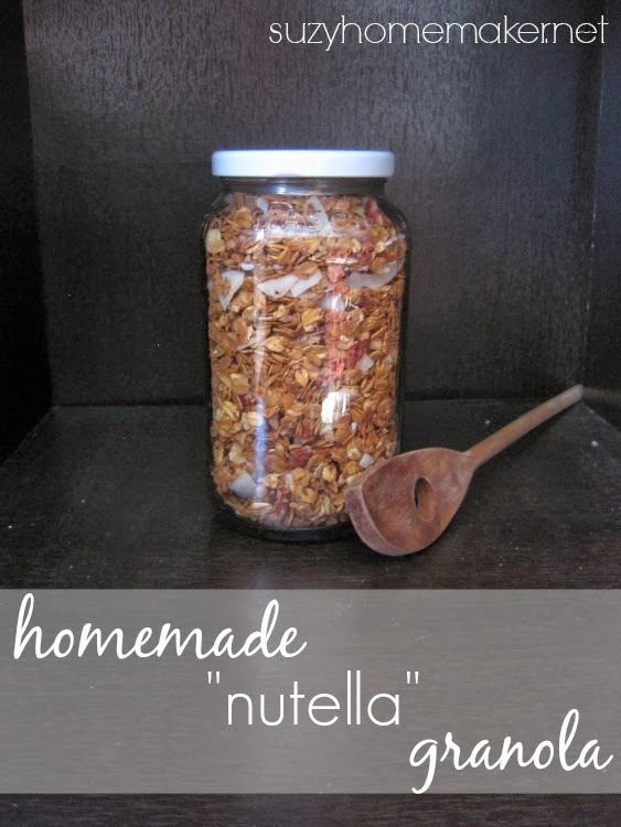 homemade nutella granola | suzyhomemaker.net