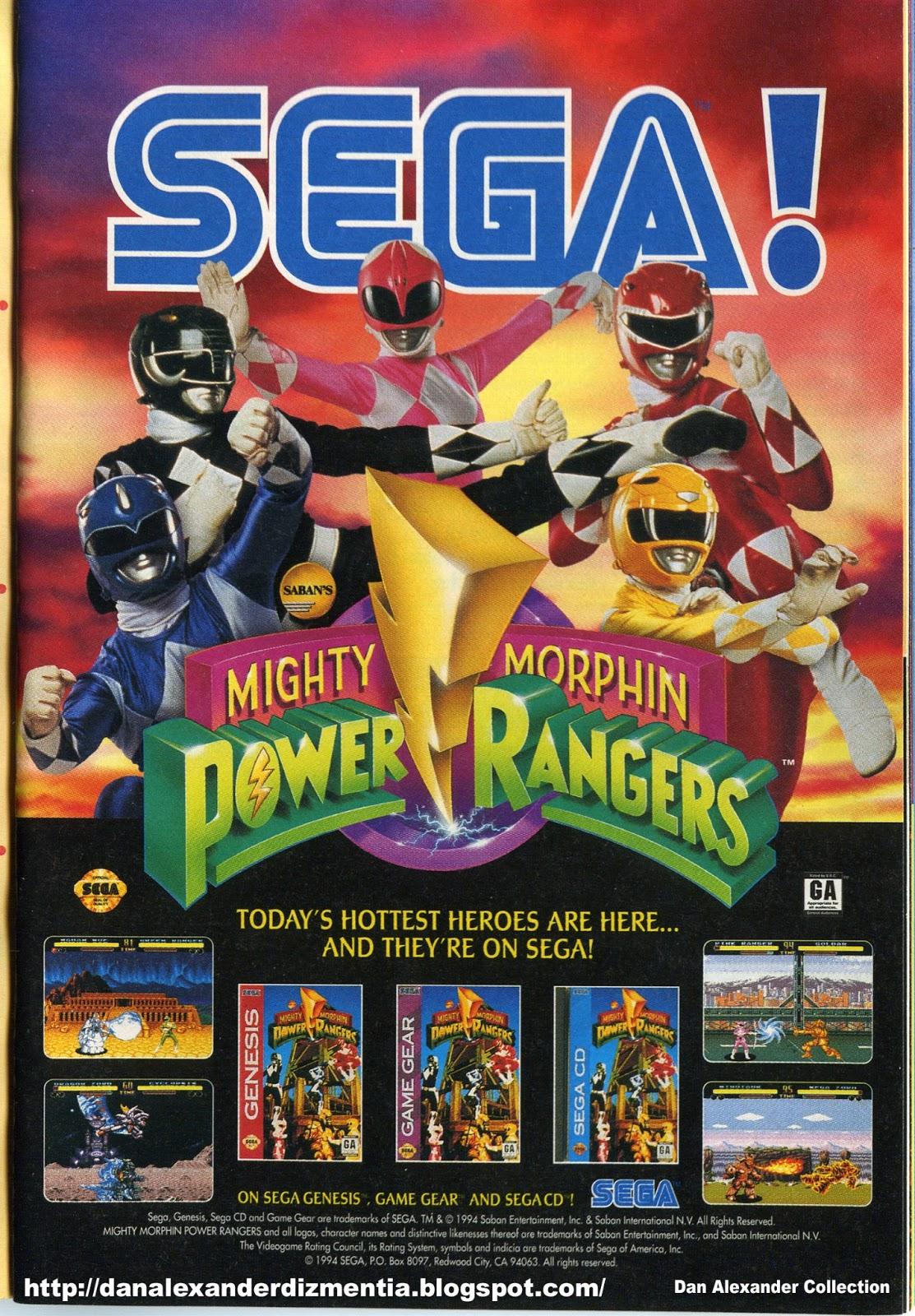 Dan Alexander Dizmentia: Mighty Morphin Power Rangers ...