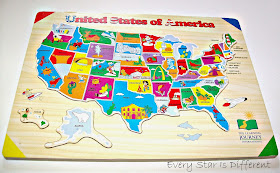 Puzzle of the United States of America