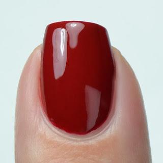 red creme nail polish