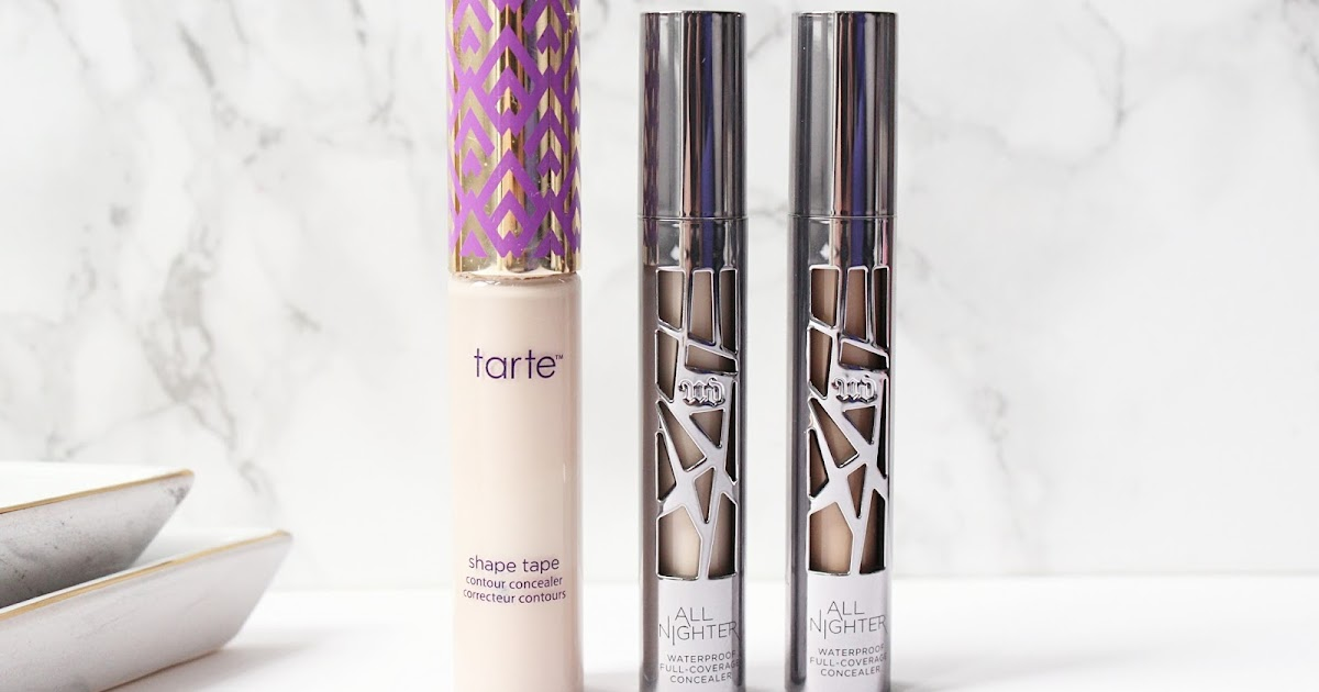urban decay all nighter concealer review is it better than shape tape hannah heartss